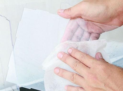 5 Pasos para limpiar el acrílico