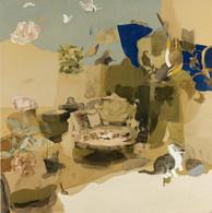So close so far, oil painting on canvas, 100 × 100 cm 2021