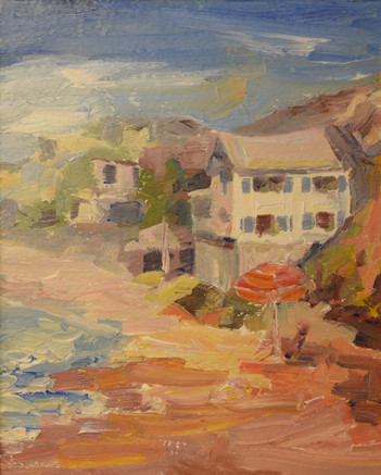"""Crystal Cove. Oil on paper mounted on board. 7.5""""x6"""". 2016"""