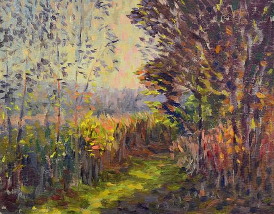 """Marymoor. Oil on canvas 9""""x12"""". 2018"""