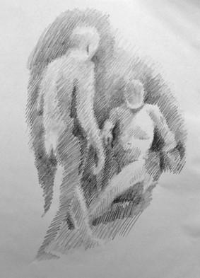 "Figure Study. Graphite on paper 24""x18"". 2018"