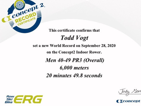 Alumnus Todd Vogt Sets Another World Record!