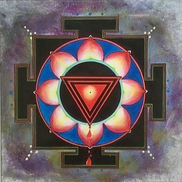 Kali Ma yantra on paper