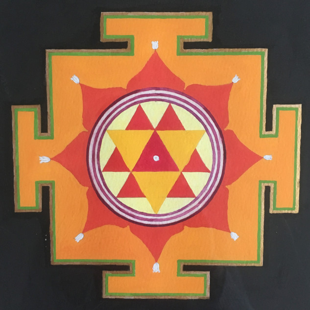 Durga Ma Yantra on paper
