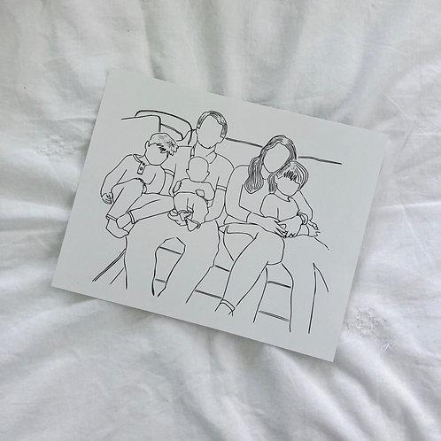 Custom Digital Line Sketch