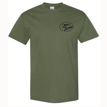 T-Shirt homme Kaki (Black Logo Edition)