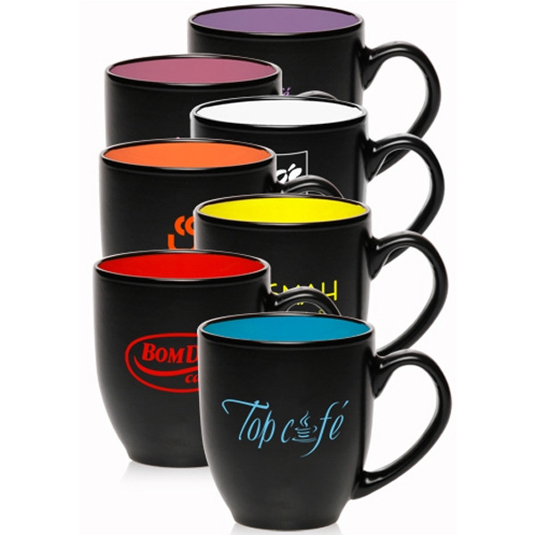 16 oz. Bistro Two-Tone Ceramic Mugs