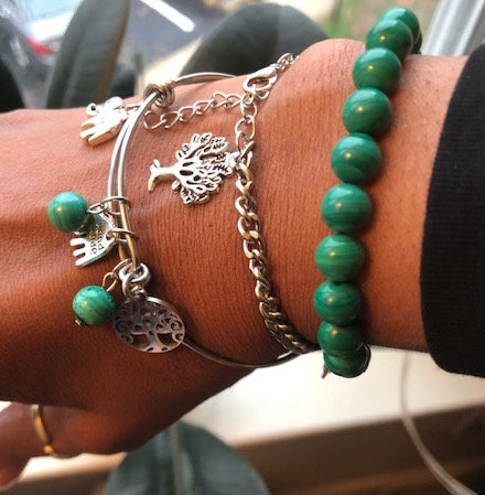 Authentic Malachite Collection Stack
