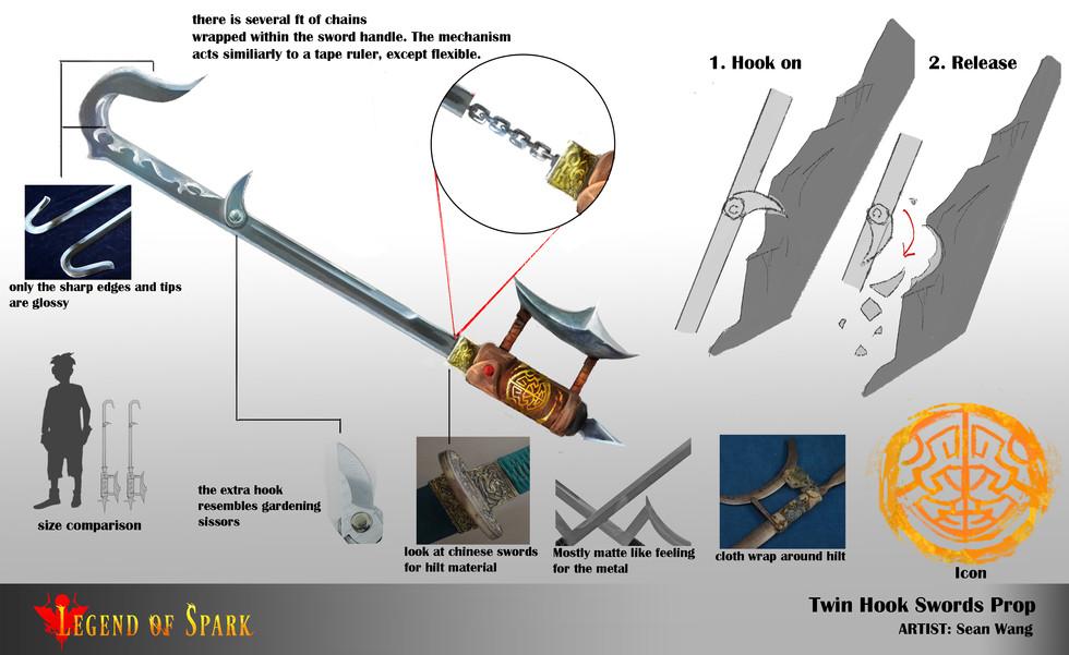 Hook sword props