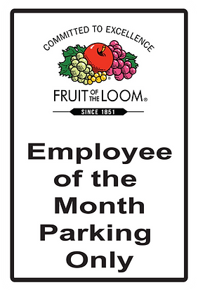 12X18 Employee of the month - Fruit of t
