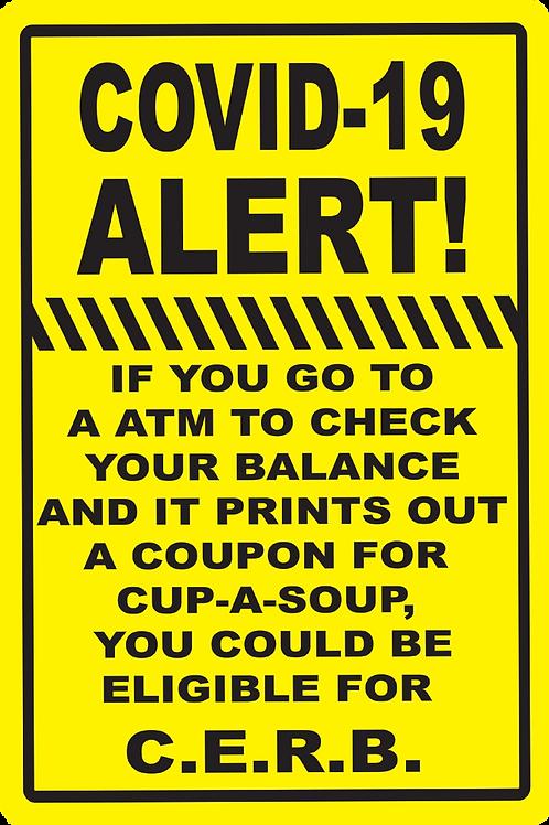 COVID-19 ALERT Sign
