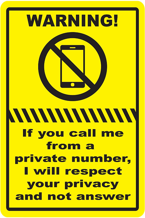 Private Number Sign