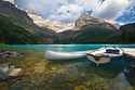 bigstockphoto_Aluminum_canoe_and_a_boat_
