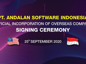 Official Incorporation Signing Ceremony - PT Andalan Software Indonesia