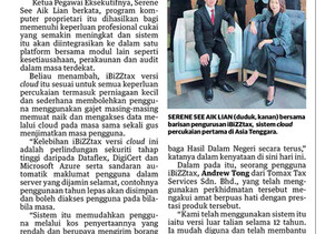 Thanks to Utusan Malaysia for the special interview session of iBiZZtax Cloud.