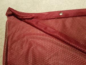 Burgundy Mesh Fabric