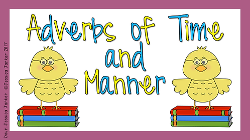 Adverbs of Time & Manner (Gr.7 - ENG FAL. - Term 3 & 4)