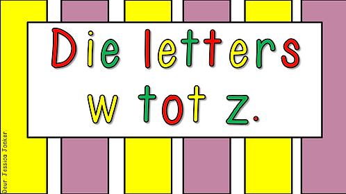 Die letters w - z (Gr.1 - AFR HT. - Kw #1)
