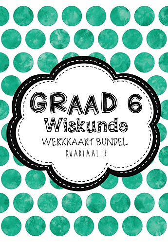 Graad 6, Wiskunde - Werkkaart Bundel + Hersienings Boek