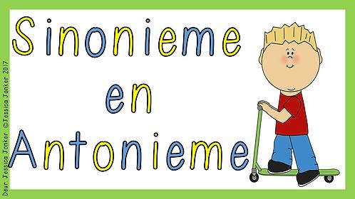 Sinonieme & Antonieme (Gr.6 - AFR HT. - Kw #3 & #4)