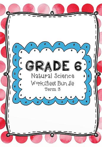 Grade 6 - Natural Science -Worksheet Bundle - Term 3