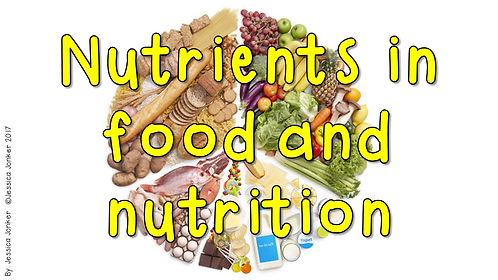 Nutrients in food & nutrition (Gr.6 - NS - Term 1)
