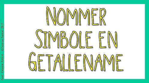 Nommer Simbole & Getallename (Gr.3 - Wisk. - Kw #3)