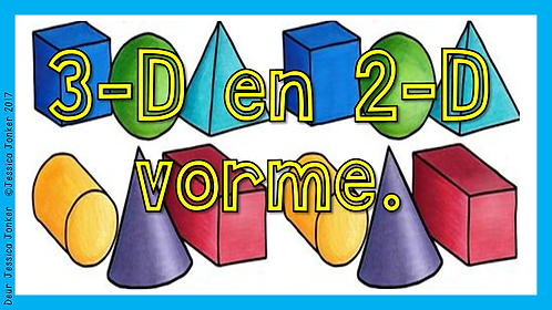 3-D & 2-D Vorme (Gr.3 - Wisk. - Kw #3)