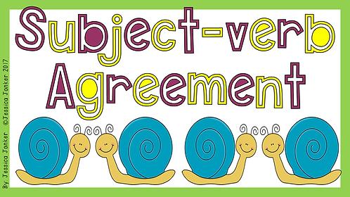 Subject-verb Agreement (Gr.7 - ENG FAL. - Term 2)