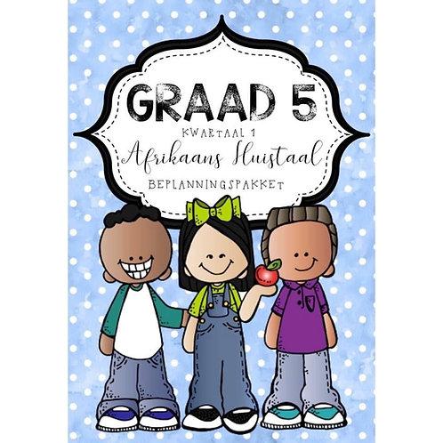 GRAAD 5 AFRIKAANS HUISTAAL JAAR BEPLANNINGSPAKKET - 2021
