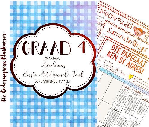 GRAAD 4 TOT 7 AFR EAT. - BEPLANNINGSPAKKET - KWARTAAL 1 -2021