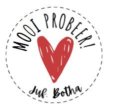 'MOOI PROBEER' PERSOONLIKE PLAKKER