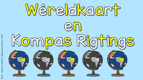 Wereldkaart & Kompasrigtings (Gr.5 - SW - Kw #1)
