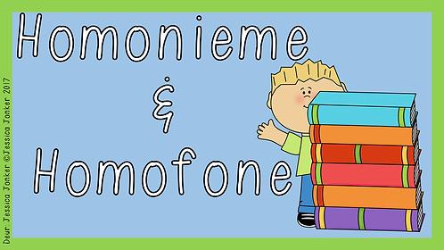 Homonieme & Homofone (Gr.5 - AFR HT. - Kw #2)