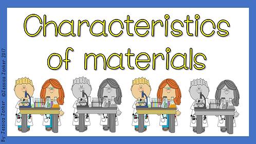 Characteristics of Materials (Gr.7 - NS - Term 2)