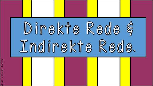 Direkte & Indirekte Rede (Gr.7 - AFR HT. - Kw #1)