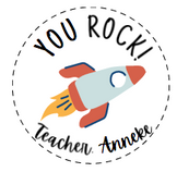 'YOU ROCK' PERSONALISED STICKER