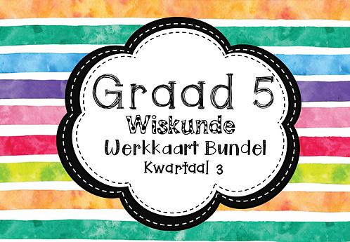 Graad 5 - Wiskunde -Werkkaart Bundle + Hersienings Boek