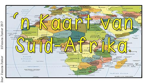 'n Kaart van Suid-Afrika (Gr.4 - SW - Kw #2)