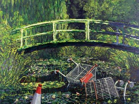 "Street Artist Banksy's ""Show Me the Monet"" Sold for $10 million"