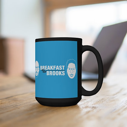 Breakfast With The Brooks Black Mug 15oz