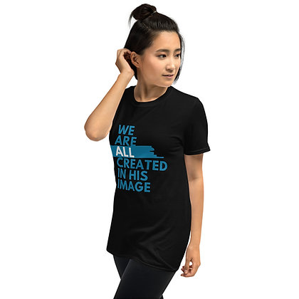 All Created In HIS Image Black Short-Sleeve Unisex T-Shirt