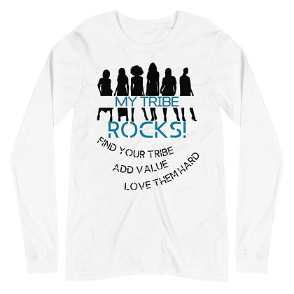 My Tribe Women's Long Sleeve Tee - White