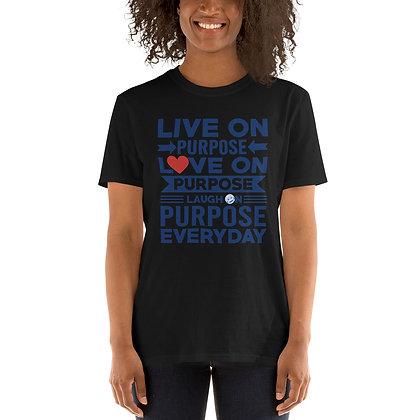 LiveLoveLaugh Black Short-Sleeve Unisex T-Shirt