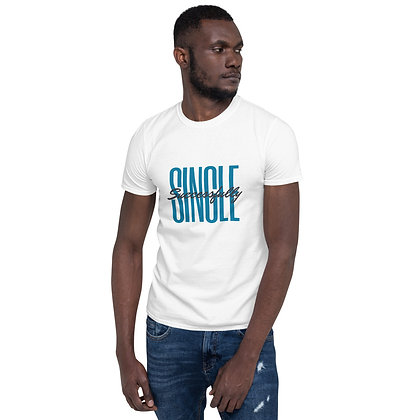 Successfully Single White Short-Sleeve Unisex T-Shirt