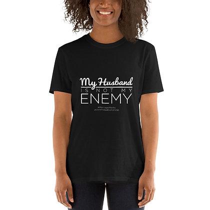 My Husband Is Not My Enemy Black Short-Sleeve T-Shirt