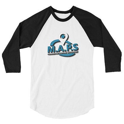 M.A.P.S. 3/4 sleeve Unisex baseball t-shirt