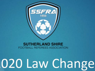 2020 Changes to Laws of the Game