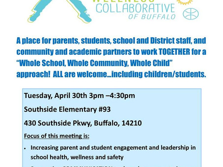 School Health and Wellness Collaborative meeting April 30th