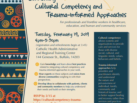 Don't miss it! Upcoming session: Connecting Cultural Competency and Trauma-informed Approaches